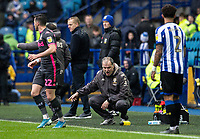 Leeds United's manager Marcelo Bielsa (centre) issues instructions<br /> <br /> Photographer Andrew Kearns/CameraSport<br /> <br /> The EFL Sky Bet Championship - Sheffield Wednesday v Leeds United - Saturday 26th October 2019 - Hillsborough - Sheffield<br /> <br /> World Copyright © 2019 CameraSport. All rights reserved. 43 Linden Ave. Countesthorpe. Leicester. England. LE8 5PG - Tel: +44 (0) 116 277 4147 - admin@camerasport.com - www.camerasport.com