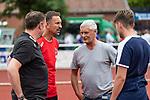 20.07.2019, Heinz-Dettmer-Stadion, Lohne, GER, Interwetten Cup, VfL Osnabrueck vs 1. FC Koeln<br /><br />im Bild<br />Achim Beierlorzer (Trainer / Cheftrainer 1. FC Koeln) (2.vl), Armin Veh (Geschäftsführer / Geschaeftsfuehrer, Sportchef 1. FC Koeln) (3.vl), <br /><br />Foto © nordphoto / Ewert