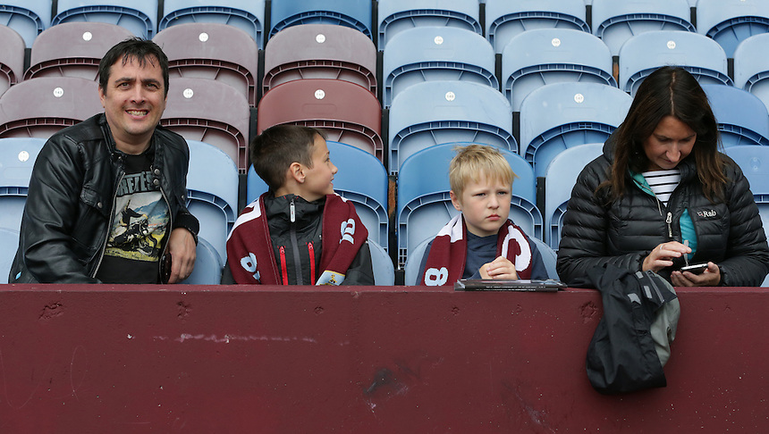 Burnley fans before the kick off<br /> <br /> Photographer Stephen White/CameraSport<br /> <br /> Football - The Football League Sky Bet Championship - Burnley v Birmingham City - Saturday 15th August 2015 - Turf Moor - Burnley<br /> <br /> &copy; CameraSport - 43 Linden Ave. Countesthorpe. Leicester. England. LE8 5PG - Tel: +44 (0) 116 277 4147 - admin@camerasport.com - www.camerasport.com