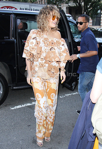 NEW YORK, NY - JULY 17: Rita Ora seen arriving at Z100 studios in New York City on July 17, 2017. Credit: RW/MediaPunch