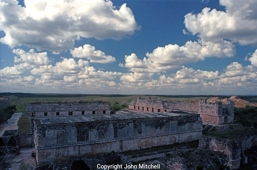 The Nunnery quadrangle at the Mayan ruins of Uxmal, Yucatan, Mexico