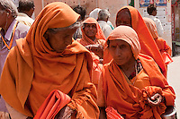 hindu nun at Kumbh Mela Haridwar India