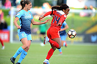 Boyds, MD - Saturday May 06, 2017: Erica Skroski, Francisca Ordega during a regular season National Women's Soccer League (NWSL) match between the Washington Spirit and Sky Blue FC at Maureen Hendricks Field, Maryland SoccerPlex.