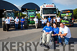 Mairead Casey, Agnes Rooney and Padraig Clifford launched the Kerrys first Truck and Tractor show in aid of Buy a Bus campaign for kerry Parents and Friends which will be held in Milltown on Sunday 6th August with Robert Giles, Michael O'Sullivan, Patrick Clifford, Pat Moriarty, Jack Clifford, Ester Casey, Damien Shanahan,  Jack Shanahan, Ann Marie Shanahan, and Jackie Casey