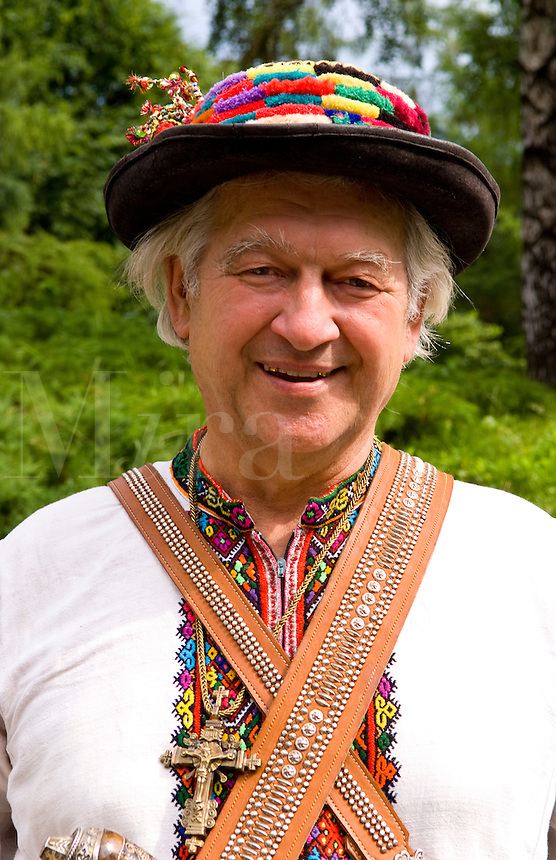 Man in traditional attire, Kiev, Ukraine