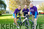 14 local cyclists are cycling from Killarney to Temple Street Children's Hospital to raise funds this Bank Holiday Weekend. <br /> left to right Arthur Fitzgerald, Declan O'Donoghue and Sean Moynihan.