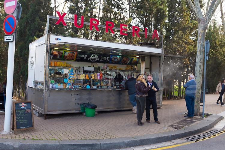 Barcelona Fast Food: Xurreria stand, near Glories, Barcelona