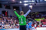 BITTER, Johannes (#1 TVB 1898 Stuttgart) \ beim Spiel in der Handball Bundesliga, TVB 1898 Stuttgart - Die Eulen Ludwigshafen.<br /> <br /> Foto &copy; PIX-Sportfotos *** Foto ist honorarpflichtig! *** Auf Anfrage in hoeherer Qualitaet/Aufloesung. Belegexemplar erbeten. Veroeffentlichung ausschliesslich fuer journalistisch-publizistische Zwecke. For editorial use only.