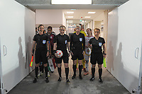 20190304 - LARNACA , CYPRUS : Czech assistant referee Lucie Ratajova (left) , Welsh referee Cheryl Foster (middle-left) , Czech referee Jana Adamkova (middle-right) , Slovakian assistant referee Maria Sukenikova (right) illustration picture during a women's soccer game between Mexico and Hungary , on Monday 4 March 2019 at the AEK Arena in Larnaca , Cyprus . This is the third game in group B for both teams during the Cyprus Womens Cup 2019 , a prestigious women soccer tournament as a preparation on the FIFA Women's World Cup 2019 in France . PHOTO SPORTPIX.BE | STIJN AUDOOREN