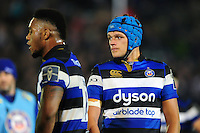 Zach Mercer of Bath Rugby looks on during a break in play. Anglo-Welsh Cup match, between Bath Rugby and Leicester Tigers on November 4, 2016 at the Recreation Ground in Bath, England. Photo by: Patrick Khachfe / Onside Images