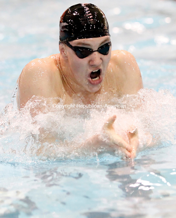 Middletown, CT- 15, March 2011-031511CM03  Naugatuck's Herald Hersted took 3rd place in the 200 yard IM Tuesday afternoon at the Class L Swim Championships at Wesleyan University in Middletown.   Christopher Massa Republican-American