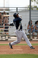 Reggie Lawson #1 of the Seattle Mariners plays in a minor league spring training game against the San Diego Padres at the Padres minor league complex on March 19, 2011  in Peoria, Arizona. .Photo by:  Bill Mitchell/Four Seam Images.