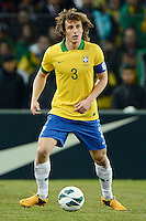 GENEBRA, SUICA, 21 DE MARCO DE 2013 - David Luiz jogador da Selacao brasileira durante partida amistosa contra a Itália, disputada em Genebra, na Suíça, nesta quinta-feira, 21. O jogo terminou 2 a 2. FOTO: PIXATHLON / BRAZIL PHOTO PRESS