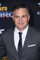 10 October  2017 - Hollywood, California - Mark Ruffalo. World Premiere of &quot;Thor: Ragnarok&quot; held at The El Capitan Theater in Hollywood. <br /> CAP/ADM/BT<br /> &copy;BT/ADM/Capital Pictures