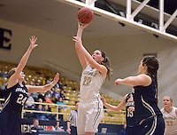 NWA Democrat-Gazette/BEN GOFF @NWABENGOFF<br /> Maren Johnston of Bentonville attempts a shot against Greenwood on Thursday Dec. 17, 2015 during the game in Bentonville's Tiger Arena.