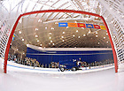 Feb. 11, 2011; Zamboni clearing the ice between periods at the Joyce Center ice rink...Photo by Matt Cashore..