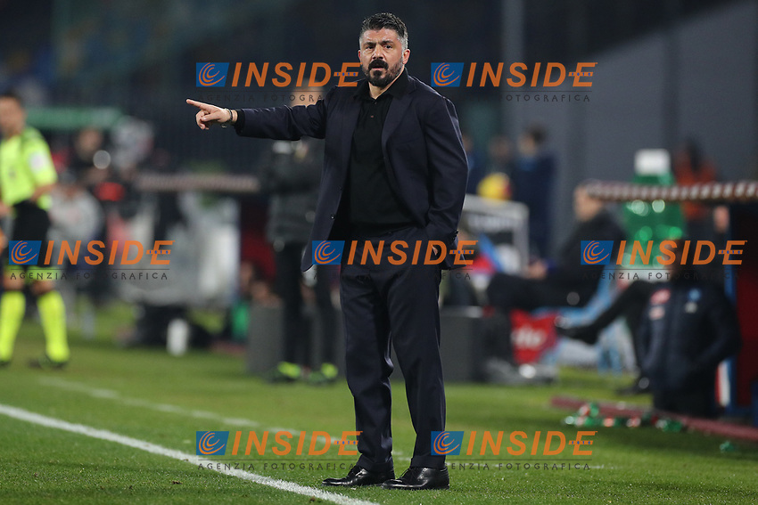 Gennaro Gattuso coach of Napoli gestures<br /> Napoli 26-01-2020 Stadio San Paolo <br /> Football Serie A 2019/2020 SSC Napoli - Juventus FC<br /> Photo Cesare Purini / Insidefoto