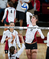 STANFORD, CA - September 2, 2010: Charlotte Brown during a volleyball match against UC Irvine in Stanford, California. Stanford won 3-0.
