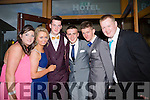 Enjoying a great time at the Milltown Presentation Debs at Ballyroe Heights Hotel on Tuesday were l-r Rachel O'Connor, Jordan Tuohy, Gavin Casey, Kevin Courtney, Darren Nagle and Michael Murphy