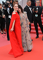 "CANNES, FRANCE. May 08, 2018: Julianne Moore & Isabelle Adjani at the gala screening for ""Everybody Knows"" at the 71st Festival de Cannes"