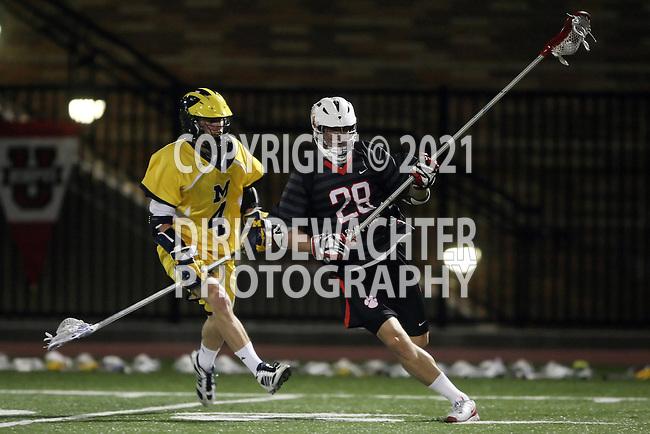 Orange, CA 02/28/09 -  Matthew Asperheim (Michigan #4) and Andrew Salcido (Chapman #28)