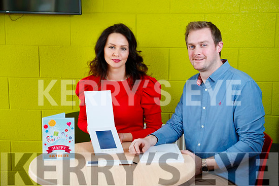 Joanna and Derek Kelly (Digital Greetings) at the Tom Crean Building in KTP, Tralee.