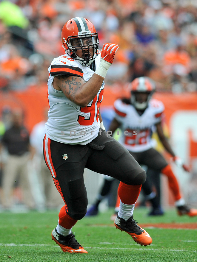 CLEVELAND, OH - JULY 18, 2016: Defensive end Xavier Cooper #96 of the Cleveland Browns rushes the quarterback in the second quarter of a game against the Baltimore Ravens on July 18, 2016 at FirstEnergy Stadium in Cleveland, Ohio. Baltimore won 25-20. (Photo by: 2017 Nick Cammett/Diamond Images)  *** Local Caption *** Xavier Cooper(SPORTPICS)