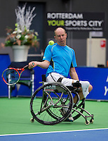 December 189 2014, Rotterdam, Topsport Centrum, Lotto NK Tennis, Wheelchair men's semifinal, Ronald Vink (NED)  <br /> Photo: Tennisimages/Henk Koster