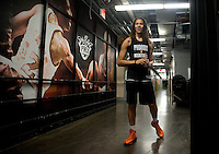 Jun. 10, 2013; Phoenix, AZ, USA: Phoenix Mercury center Brittney Griner during a team practice at the US Airways Center. Mandatory Credit: Mark J. Rebilas-