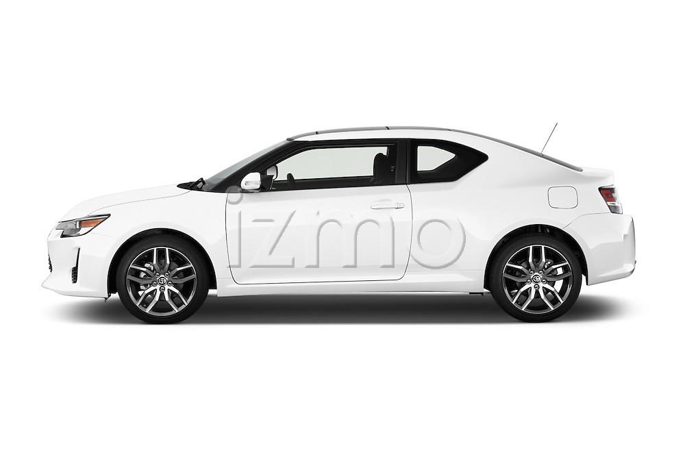 Driver side profile view of a 2014 Scion TC Coupe