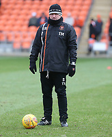 Blackpool Assistant Manager Terry McPhillips during the pre-match warm-up <br /> <br /> Photographer Stephen White/CameraSport<br /> <br /> The EFL Sky Bet League One - Blackpool v Bristol Rovers - Saturday 13th January 2018 - Bloomfield Road - Blackpool<br /> <br /> World Copyright &copy; 2018 CameraSport. All rights reserved. 43 Linden Ave. Countesthorpe. Leicester. England. LE8 5PG - Tel: +44 (0) 116 277 4147 - admin@camerasport.com - www.camerasport.com