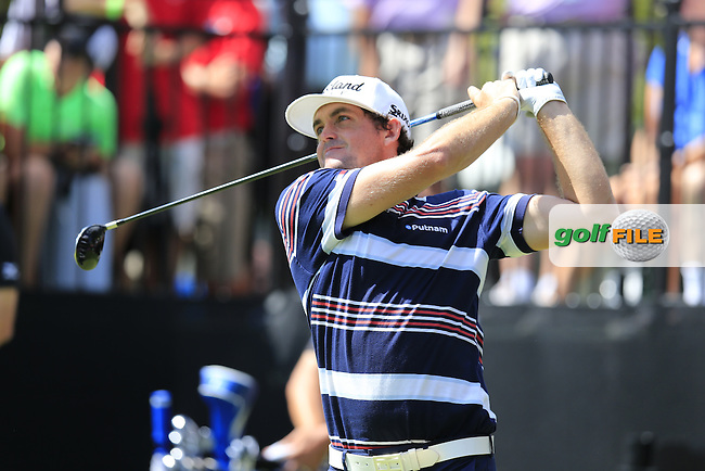 Keegan Bradley (USA) tees off the 10th tee during Saturday's Round 3 of the 2013 Bridgestone Invitational WGC tournament held at the Firestone Country Club, Akron, Ohio. 3rd August 2013.<br /> Picture: Eoin Clarke www.golffile.ie