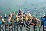 SWIM: Swimmers who took part in the Donald Walsh Memorial Swim from the Slip Fenit to Lockes Beach Fenit on Thursday evening.