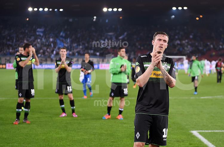 FUSSBALL   INTERNATIONAL   UEFA EUROPA LEAGUE   SAISON 2014/2015 FC Zuerich - VfL Borussia Moenchengladbach    02.10.2014 Max Kruse (Borussia Moenchengladbach) mit dem Dank an die Fans nach dem Spiel