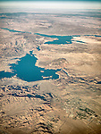 Lake Mead, Boulder City, The Colorado River and Black Canyon, Nevada, from a window seat.