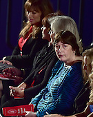 Rape victim Kathy Shelton, right, sits with Bill Clinton sexual harassment accusers, from left, Paula Jones, Kathleen Willey, and Juanita Broaddrick prior to former United States Secretary of State Hillary Clinton, the Democratic Party nominee for President of the US and businessman Donald J. Trump, the Republican Party candidate for President of the US, appearing in the second of three presidential general election debates at Washington University in St. Louis, Missouri on Sunday, October 8, 2016.<br /> Credit: Ron Sachs / CNP<br /> (RESTRICTION: NO New York or New Jersey Newspapers or newspapers within a 75 mile radius of New York City)