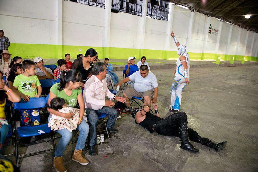 Lucha Libre in Santa Maria Tulpetlac, Ecatepec, Estado de Mexico.