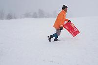 Fecha: 17-01-2015. LUGO.- Nieve en la montaña de Lugo, en O Cebreiro esperaban con impaciencia la visita de turistas.