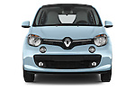 Car photography straight front view of a 2015 Renault Twingo Intens 5 Door Hatchback 2WD Front View