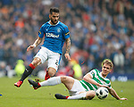 15.04.2018 Celtic v Rangers scottish cup SF:<br /> Daniel Candeias and Kristoffer Ajer