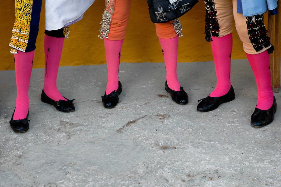 A detail of Spanish matadors' knee socks (Traje de luces) at the bullring in in Fuengirola, Spain, 28 April 2007.