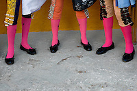 A detail of Spanish matadors' knee socks (Traje de luces) at the bullring in in Fuengirola, Spain, 28 April 2007.