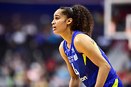 Washington, DC - August 12, 2018: Dallas Wings All-Star guard Skylar Diggins-Smith (4) during game between the Washington Mystics and the Dallas Wings at the Capital One Arena in Washington, DC. (Photo by Phil Peters/Media Images International)