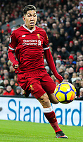 Liverpool's Roberto Firmino<br /> <br /> Photographer Alex Dodd/CameraSport<br /> <br /> The Premier League - Liverpool v Manchester City - Sunday 14th January 2018 - Anfield - Liverpool<br /> <br /> World Copyright &copy; 2018 CameraSport. All rights reserved. 43 Linden Ave. Countesthorpe. Leicester. England. LE8 5PG - Tel: +44 (0) 116 277 4147 - admin@camerasport.com - www.camerasport.com