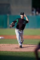 Dayton Dragons pitcher Andy Fisher (15) during a Midwest League game against the Kane County Cougars on July 20, 2019 at Northwestern Medicine Field in Geneva, Illinois.  Dayton defeated Kane County 1-0.  (Mike Janes/Four Seam Images)