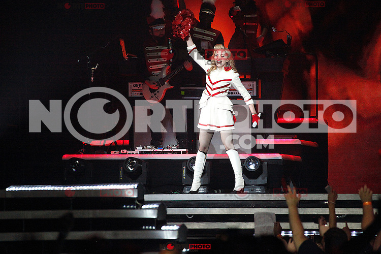 Madonna performing on the first night of her MDNA Tour at the Wells Fargo Center in Philadelphia, Pa on August 28, 2012  &copy; Star Shooter / MediaPunchInc /NortePhoto.com<br />