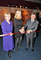 17/02/'11 RTEs Miriam O'Callaghan and His Excellency Mr. Amr Helmy, The Egyptyian Ambassador to Ireland and Minister Mary Hannafin pictured this afternoon after they officially opened the exhibition 'Tutankhamun: His Tomb and His Treasures' in the RDS Dublin. Tutankhamun: His Tomb and His Treasures has already delighted over 1.7 million visitors across Europe. Tickets can be bought on www.ticketmaster.ie...Picture Colin Keegan, Collins, Dublin.***NO REPRODUCTION FEE PICTURE****
