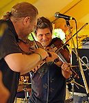 Left to right- Kevin Wimmer, and Steve Riley of Steve Riley & The Mamou Playboys band, playing New Orleans Cajun music on the Dance Stage of the 2012 Clearwater Festival at Croton Point Park on Sunday, June 17, 2012. Photograph taken by Jim Peppler. Copyright Jim Peppler/2012