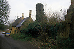 Great Tew Oxfordshire  Derelict Cottages  1980s.