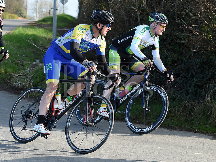 Andy O'Brien riding for Drogheda Wheelers in the 10th Anniversary edition of the Peter Bidwell Memorial cycle race at Donore. Photo:Colin Bell/pressphotos.ie
